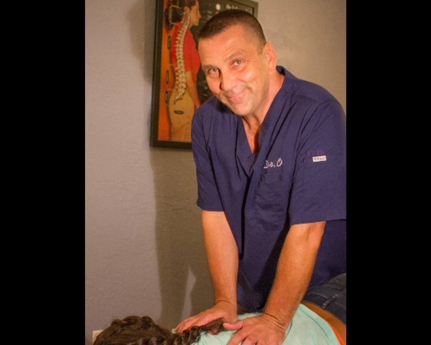 Dr, Stephen Ossipinsky - Dr. O with a patient