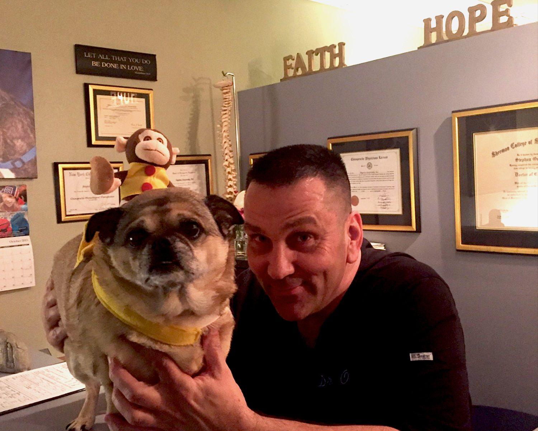 Puggles the Pug visits Dr. O on Halloween